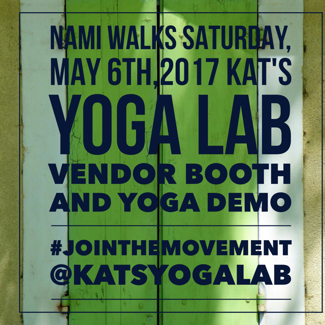NAMI walks 2017-Kat's Yoga Lab booth and yoga demo